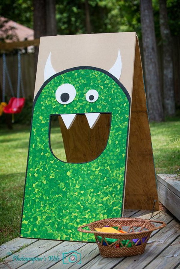 Simple Monster Bean Bag Toss.