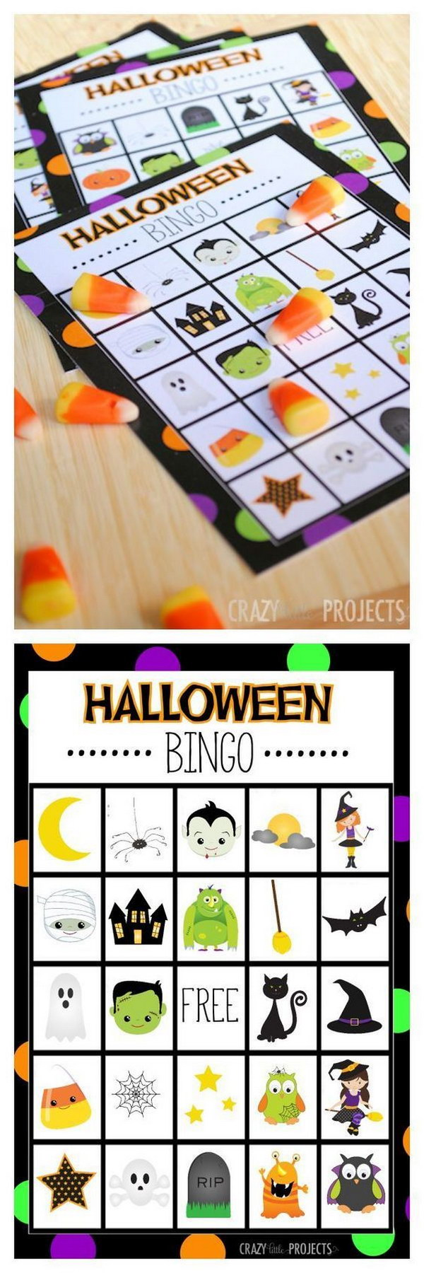 Free Printable Halloween Bingo game.