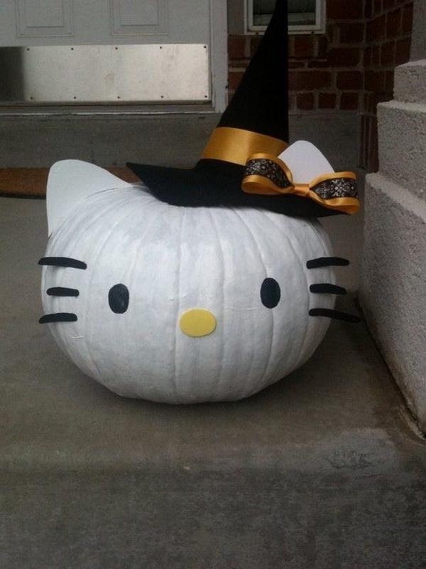 Cute Hello Kitty Pumpkin.