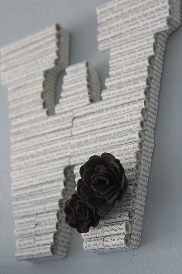 Rolled Book Paper Monograms