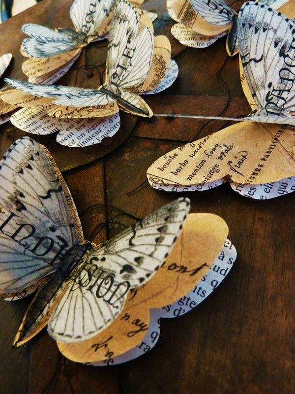 Easy and beautiful diy projects made with old books 2017 for Easy recycling ideas