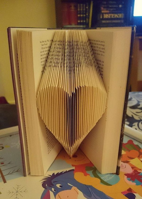 Folded Book  Page Heart Art