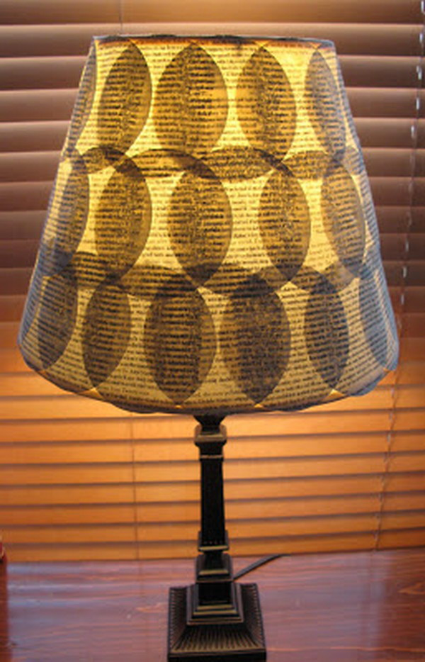 Diy Old Book Pages Lampshade