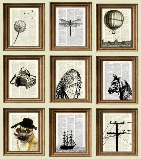 Easy and beautiful diy projects made with old books 2017 - Ideas para hacer cuadros originales ...