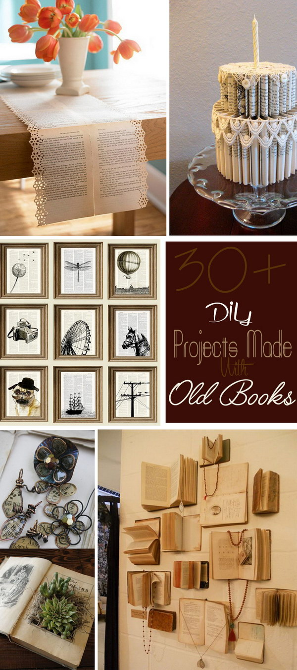 DIY Projects Made With Old Books!