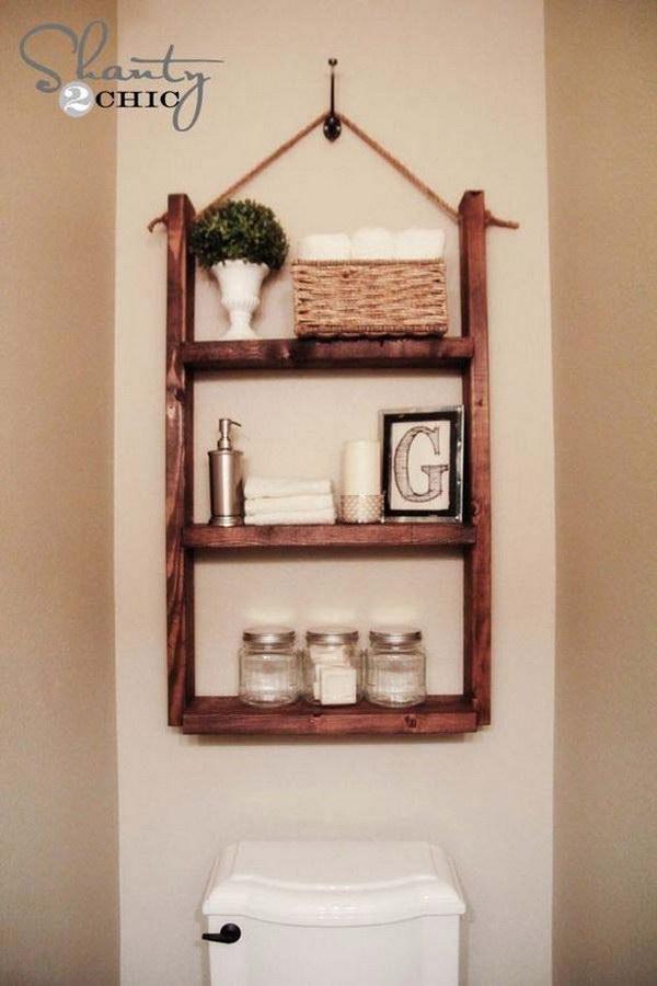 over the toilet storage ideas for extra space 2017 rh ideastand com Floating Shelves DIY Bathroom Shelf Ideas