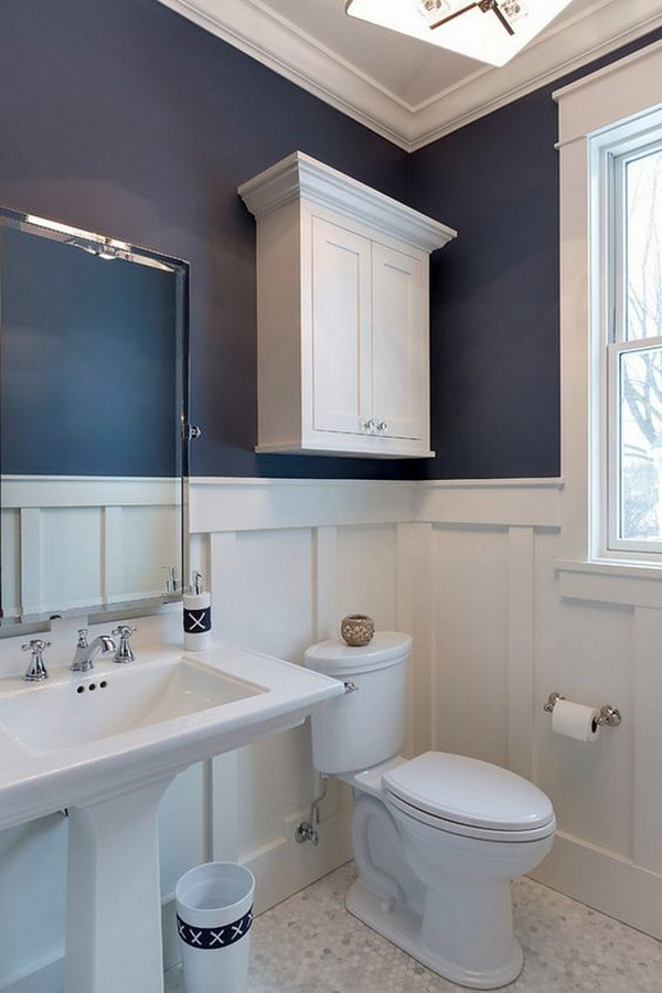 Over The Toilet Cabinet With Crown Type Moulding
