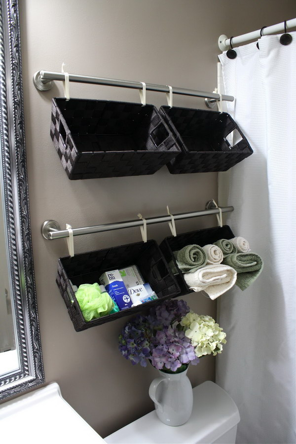 Over The Toilet Hanging Baskets