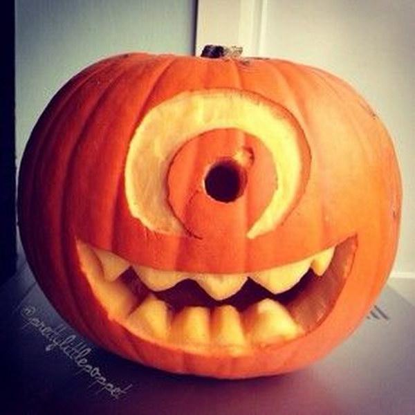Monster Carved Pumpkin.