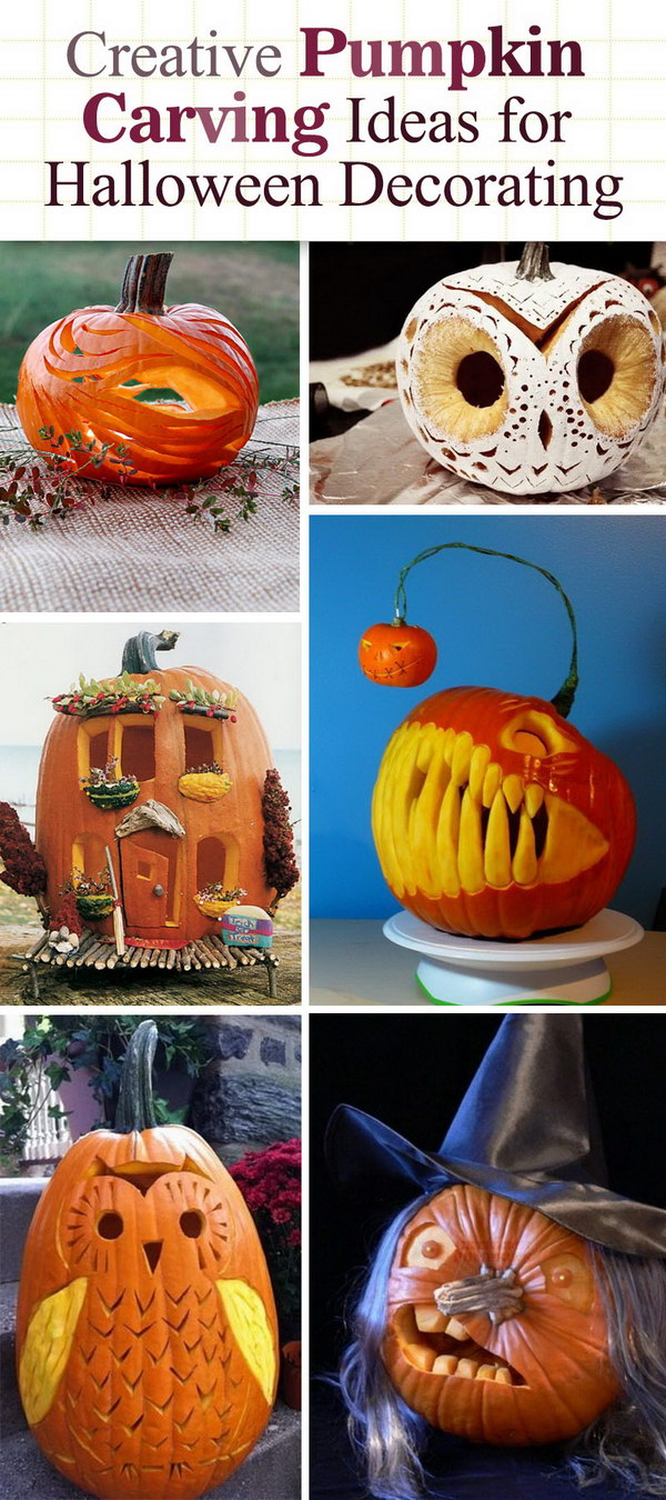 Creative Pumpkin Carving Ideas for Halloween Decorating 2017
