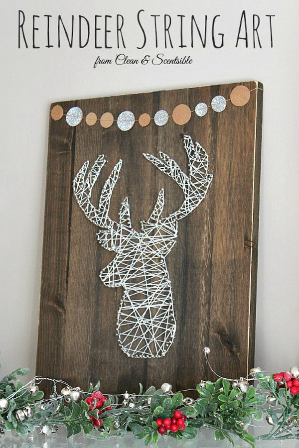 Deer Head String Art.