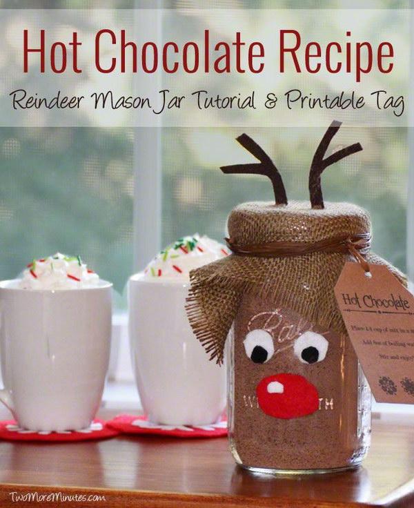 Hot Chocolate Recipe And Mason Jar Gift Idea.
