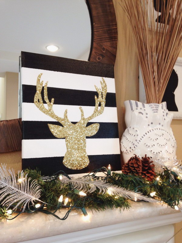 Christmas Decor: DIY Bright Sparkly Reindeer.
