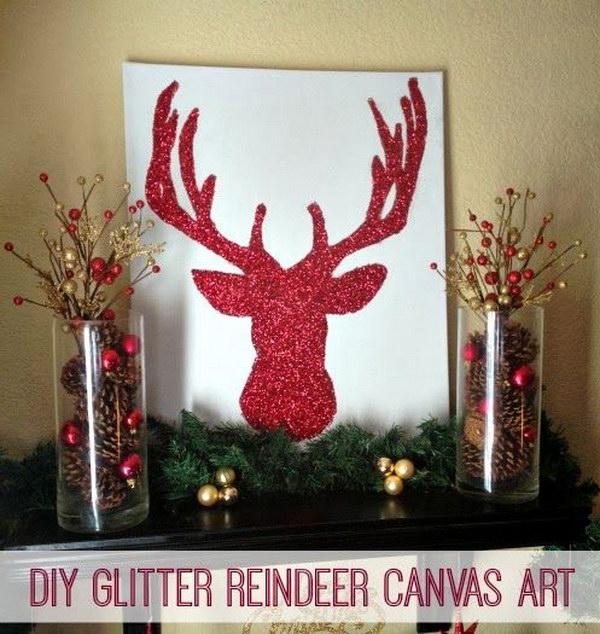 Christmas Decor: DIY Bright Sparkly Reindeer.