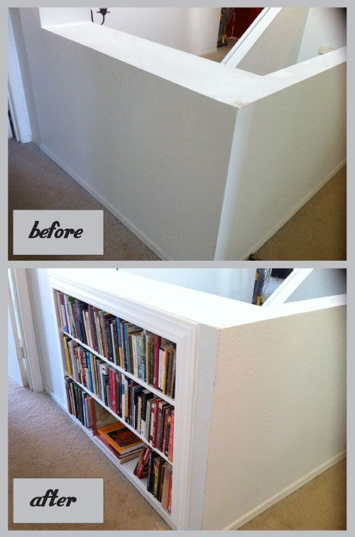 Adding Book Shelves Between The Studs.