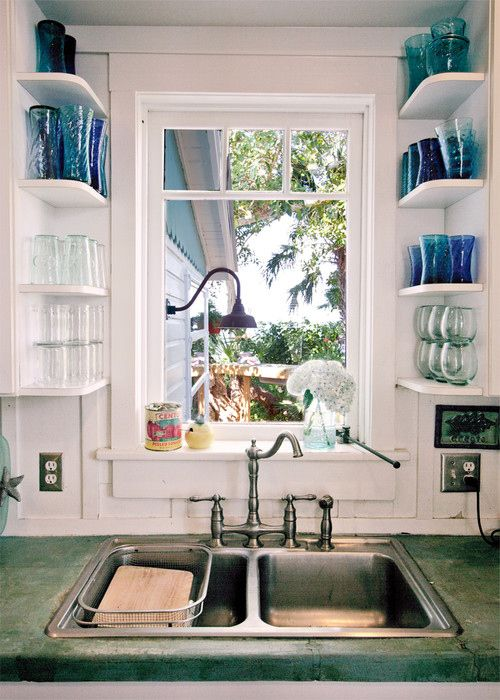 Add Shelves to Open Spaced Areas to Make the Most of the Empty Space.
