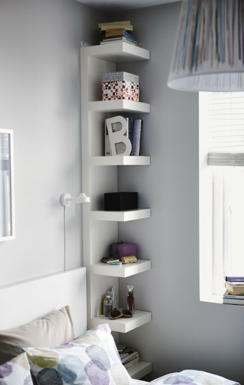 Narrow IKEA Lack Shelves Help You Use Small Wall Spaces Effectively By  Accommodating Small Items In A Minimum Of Space
