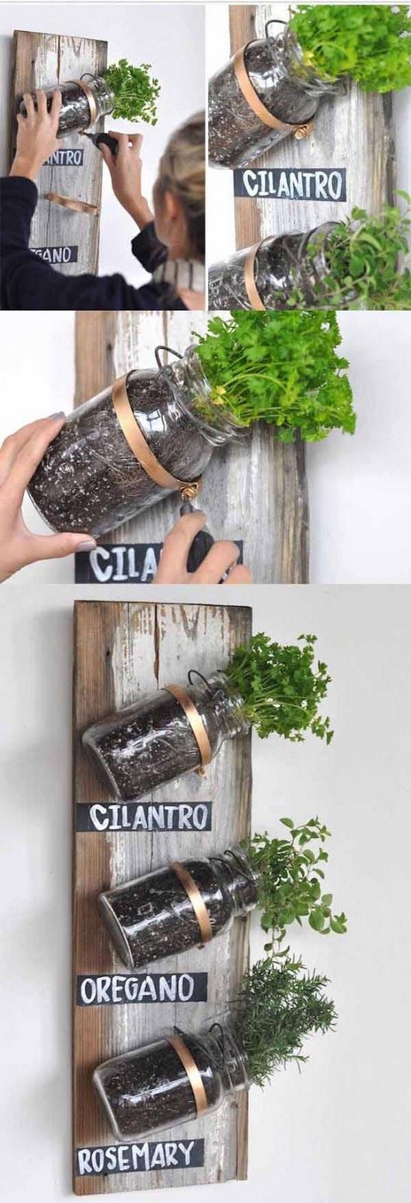 DIY Mason Jar Herb Garden