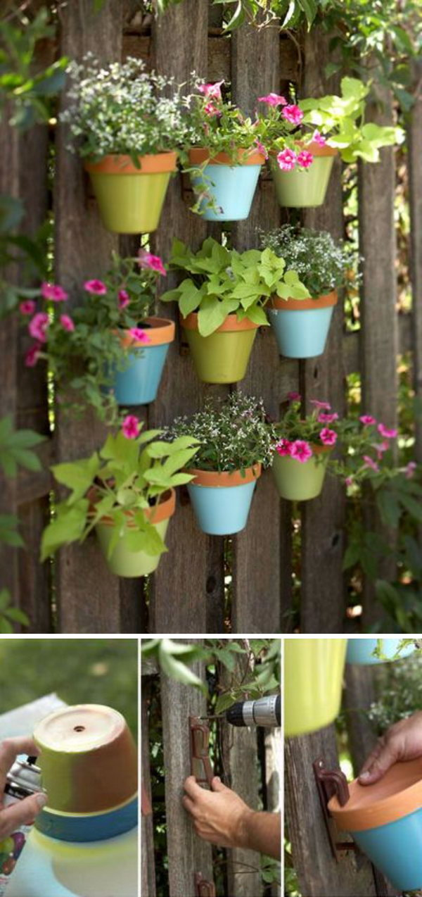 Hanging Flower Pots Vertical Garden.