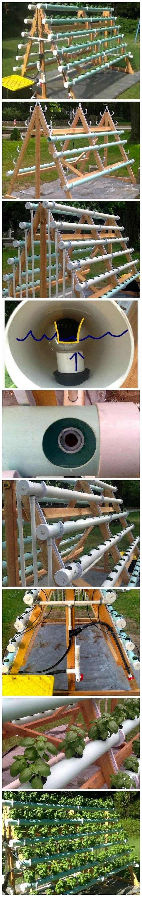 DIY Vertical A Frame Hydroponic System Tutorial