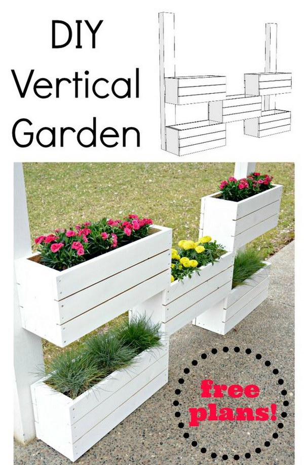 DIY Vertical Planter.