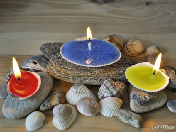 Shell Candle Holder. Get the tutorial