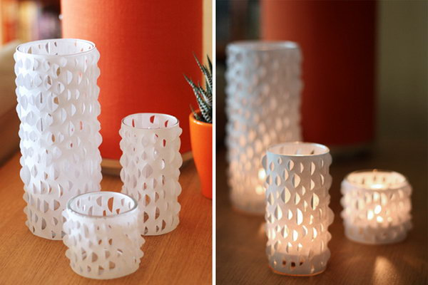 Cut Paper Candle Holders. Get the tutorial