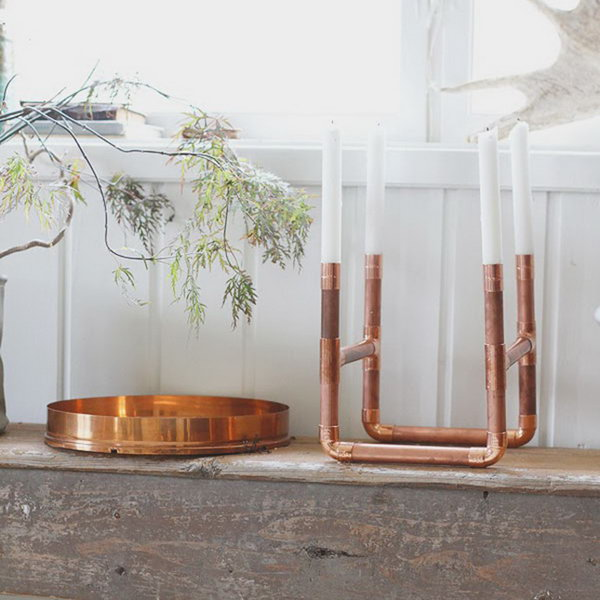 Copper Pipe Candle Holder. See how
