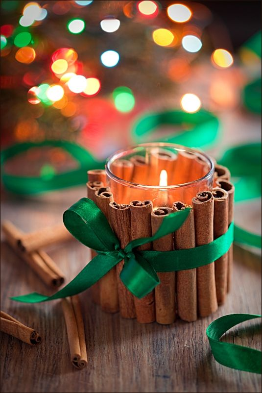 DIY Cinnamon Candles.