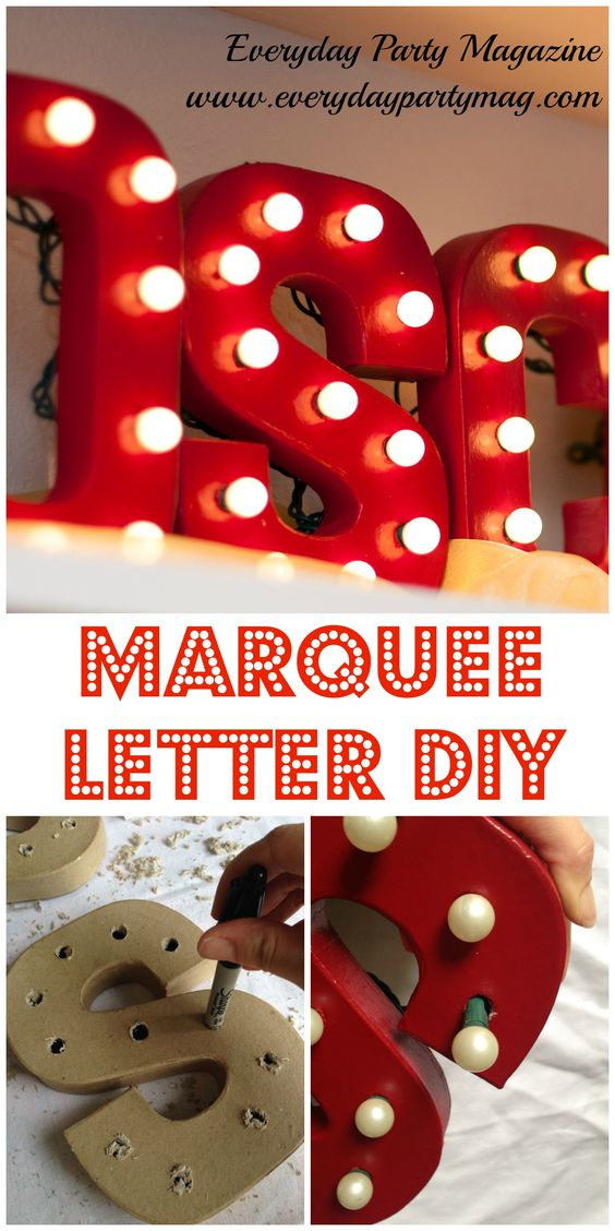 DIY Marquee Letters.