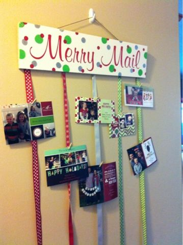 DIY Merry Mail Greeting Card Holder.