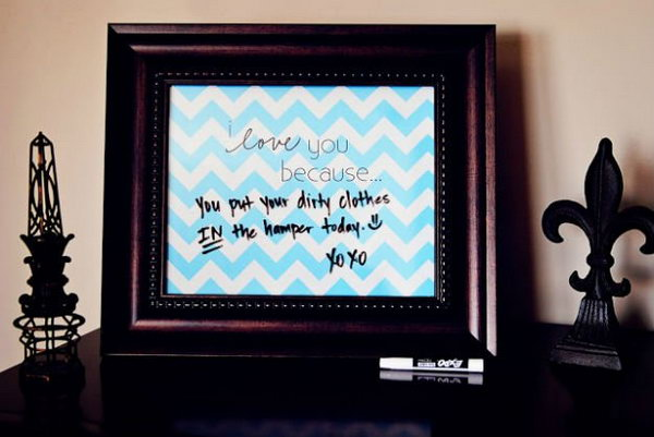 'I Love You Because…' DIY Message Board