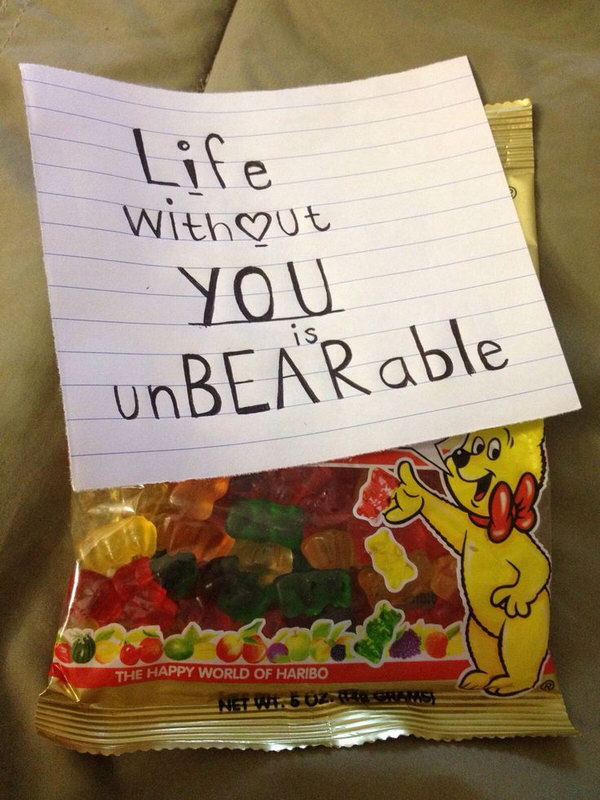Life without You is Unbearable for Gummy Bears Lover
