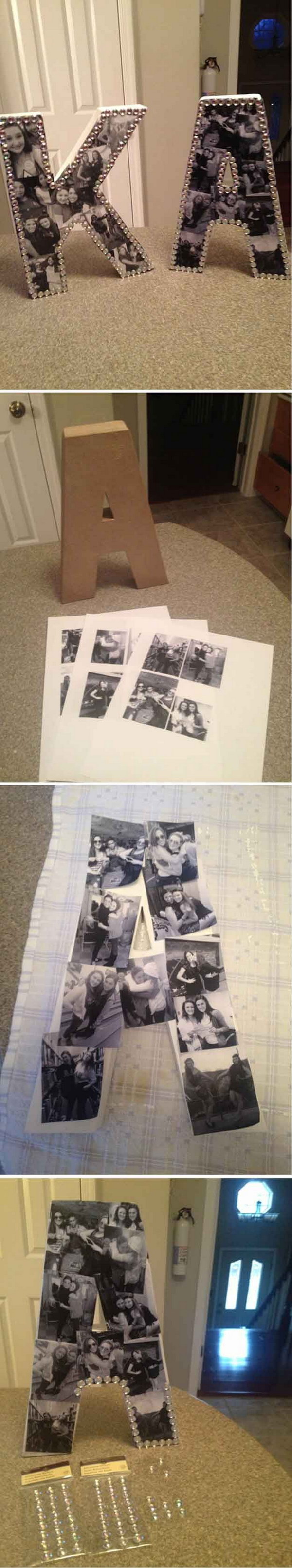 DIY Photo Collage Letters Gift.