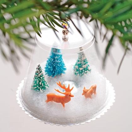 Wonderland Christmas Snow Globe Ornament.