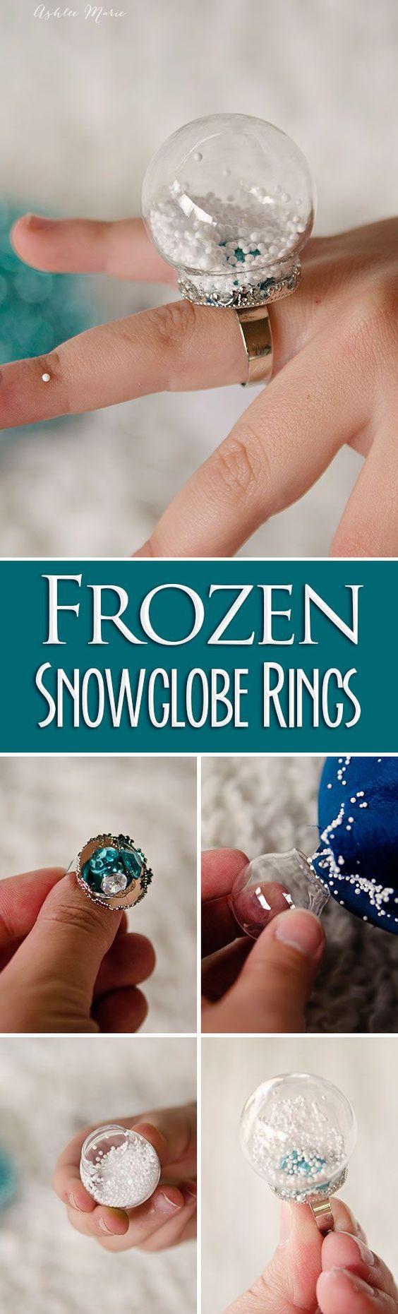 DIY Snow Globe Ring.