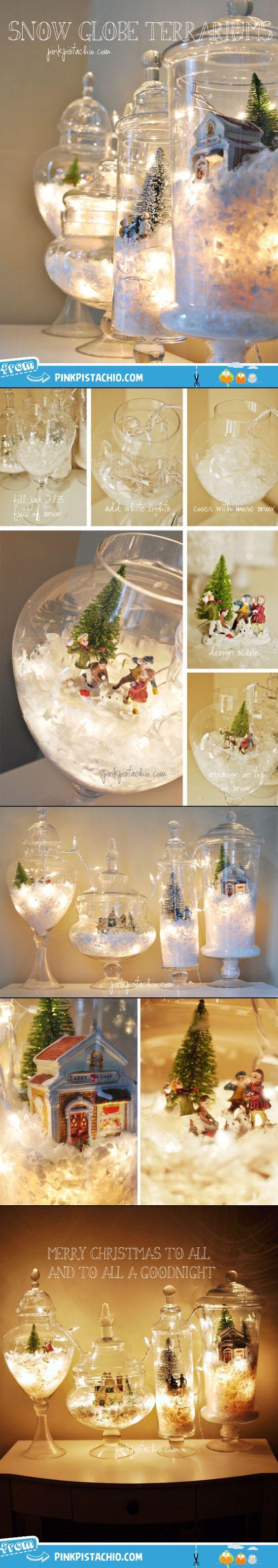 DIY Snow Globe Terrariums.