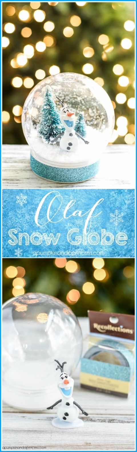 DIY Disney Frozen Olaf Snow Globe.