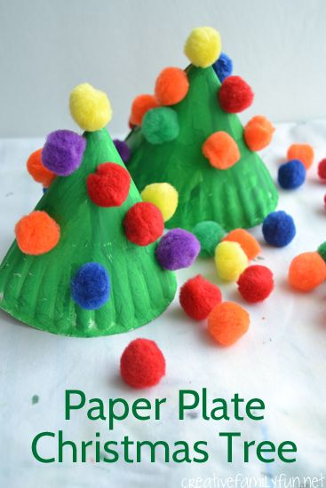 Paper Plate Christmas Tree Craft.