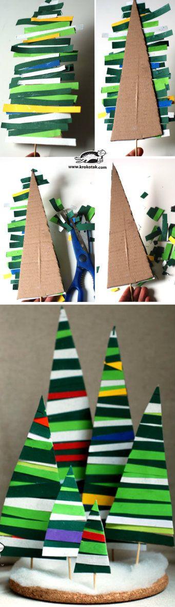 Paper Strips Fir Tree.