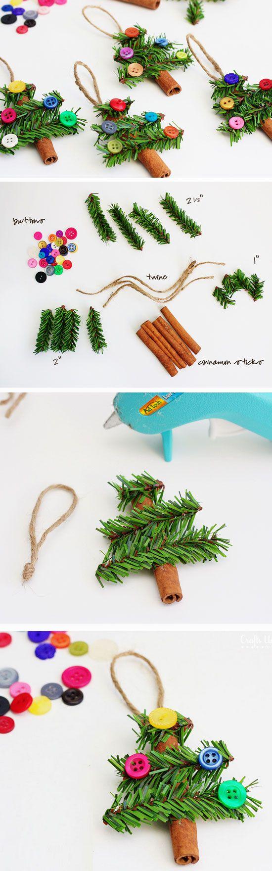 Cinnamon Stick Trees for Kids.