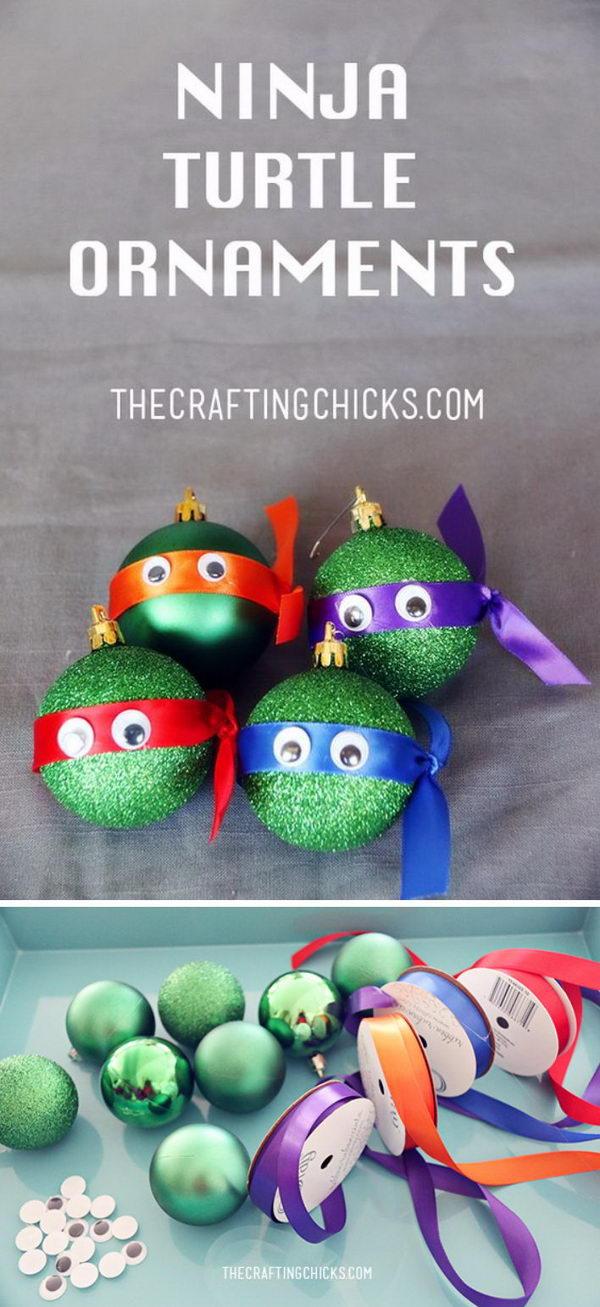 Ninja Turtle Ornaments.