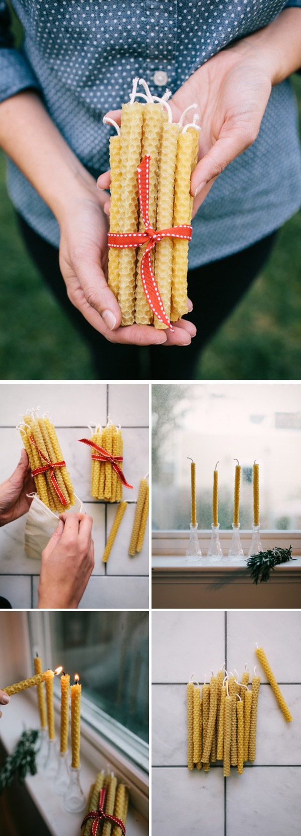 DIY Beeswax Candles.