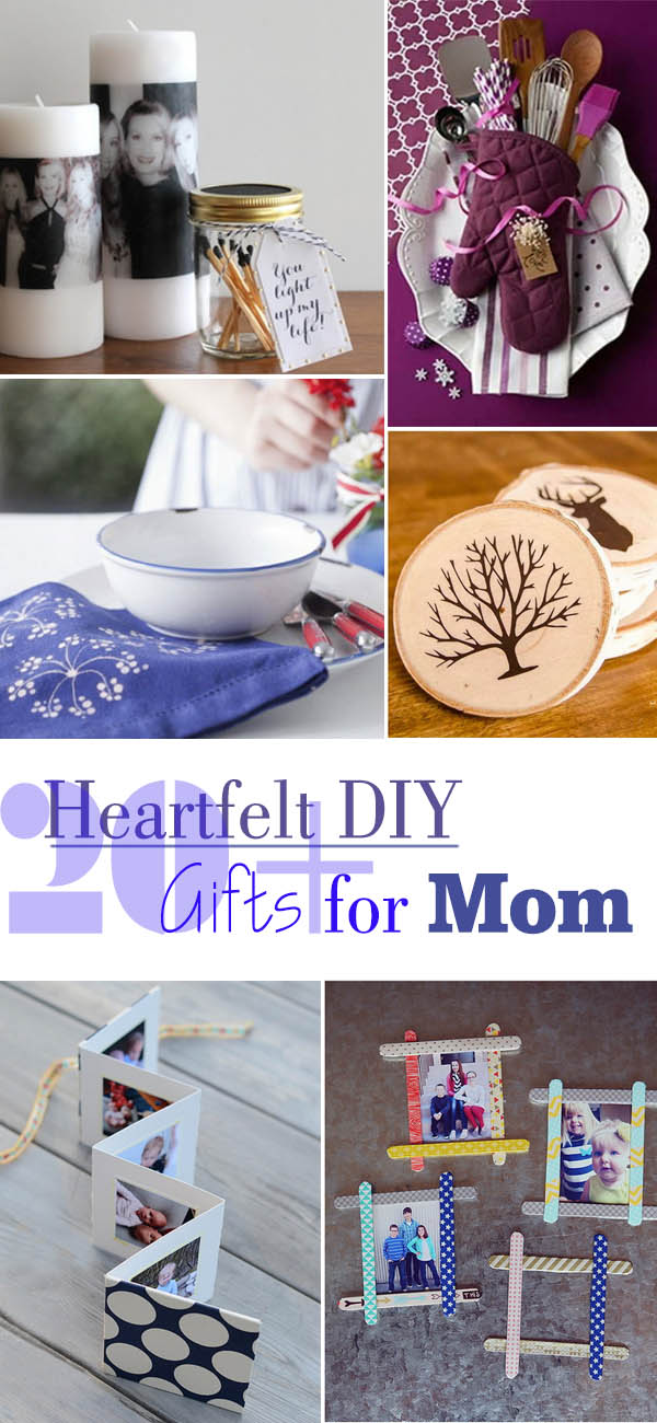 20+ Heartfelt DIY Gifts for Mom 2017