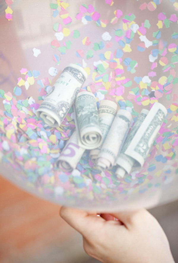 Confetti and Cash Balloon.