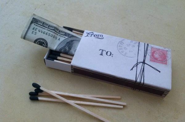 Money in a Matchbox.