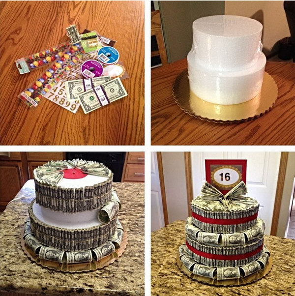 DIY Money Cake .
