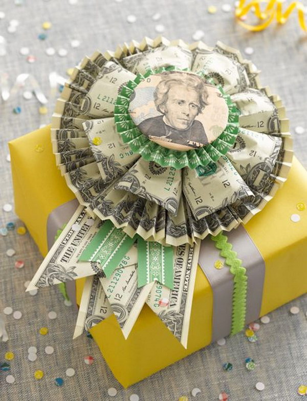 DIY Money Rosette .