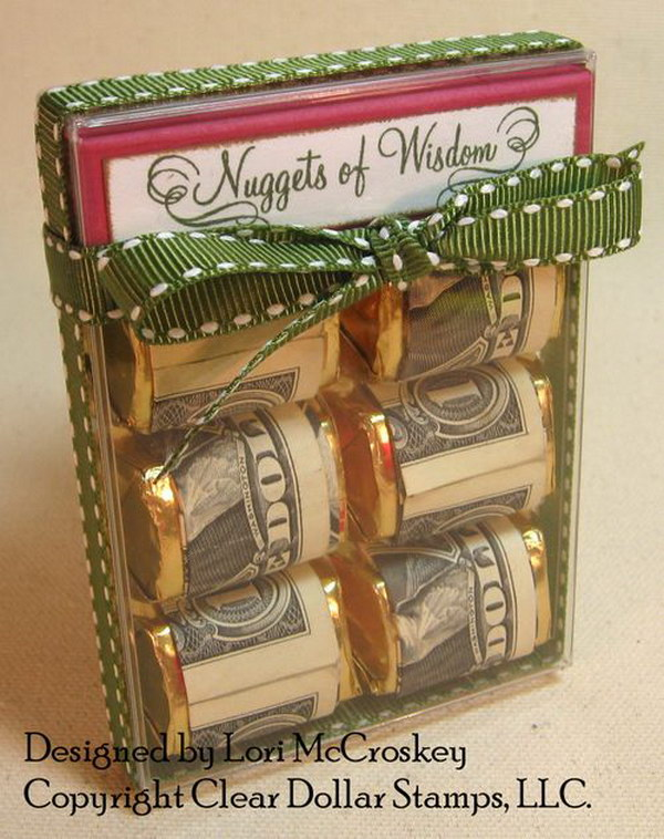 Chocolate Wrapped with Money Gift.