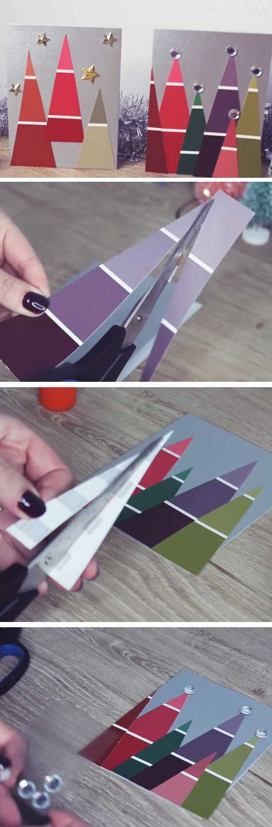 Paint Chip Christmas Cards.